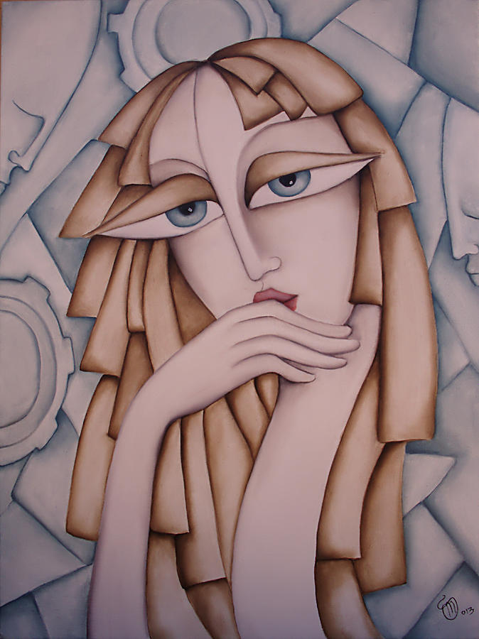 Woman Painting - Memory by Simona  Mereu