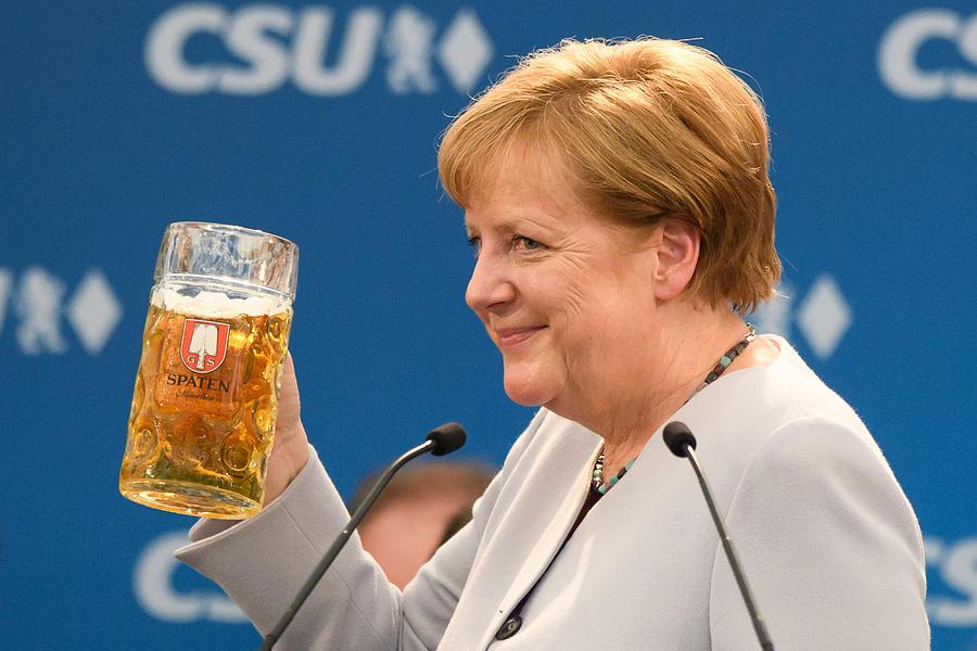 Merkel And Seehofer Meet At Munich Fest Photograph by Sebastian Widmann
