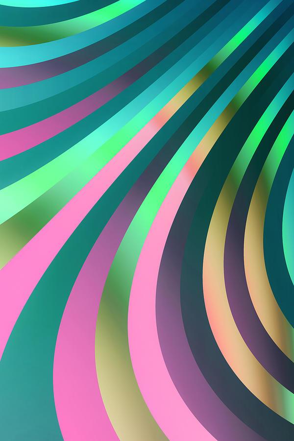 Metallic Digital Art - Metallic Swirls 2 by Hakon Soreide
