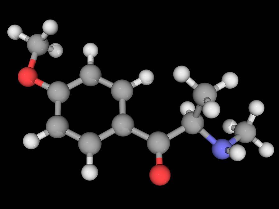 Artwork Photograph - Methedrone Drug Molecule by Laguna Design/science Photo Library