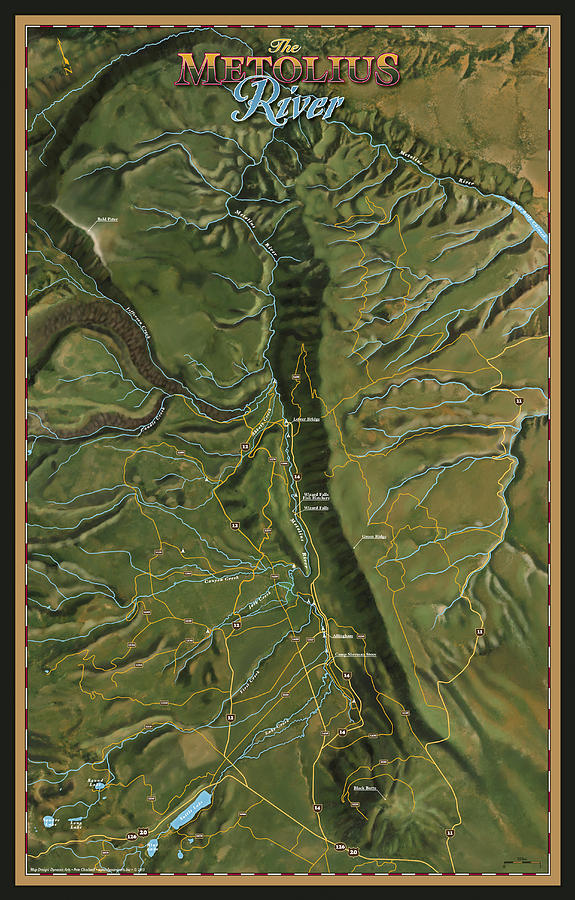 Metolius Digital Art - Metolius River by Pete Chadwell