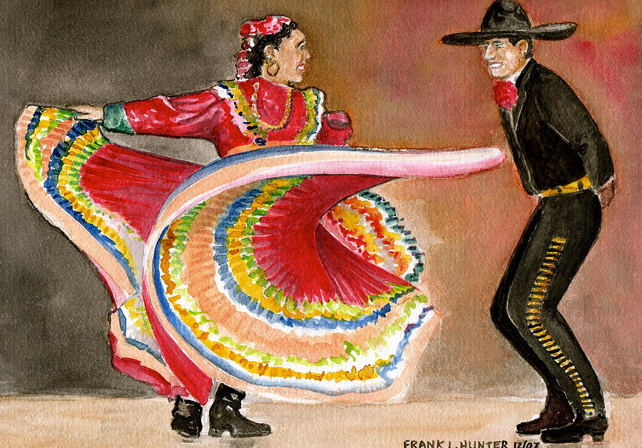 Mexico City Ballet Folklorico Painting By Frank Hunter