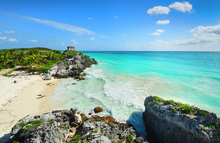 Mexico, Yucatan, Tulum, Beach With Photograph by Tetra Images