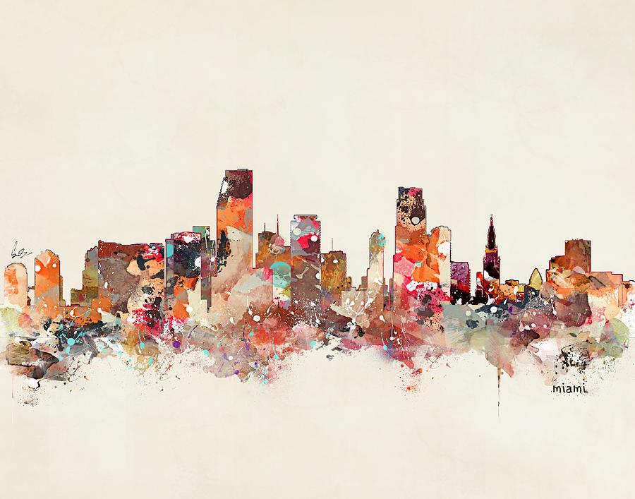 Miami Florida Painting - Miami Florida by Bri Buckley