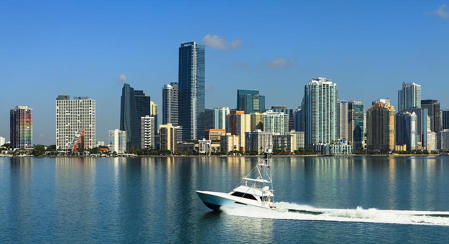 Miami Skyline Photograph by Raul Rodriguez