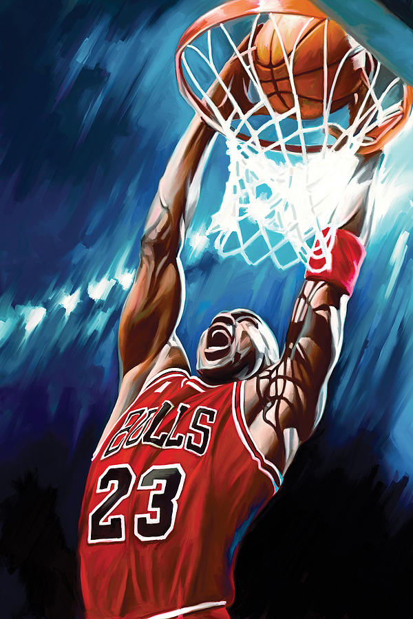 Nba Painting - Michael Jordan Artwork by Sheraz A