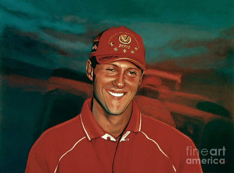 Michael Schumacher Painting - Michael Schumacher by Paul Meijering