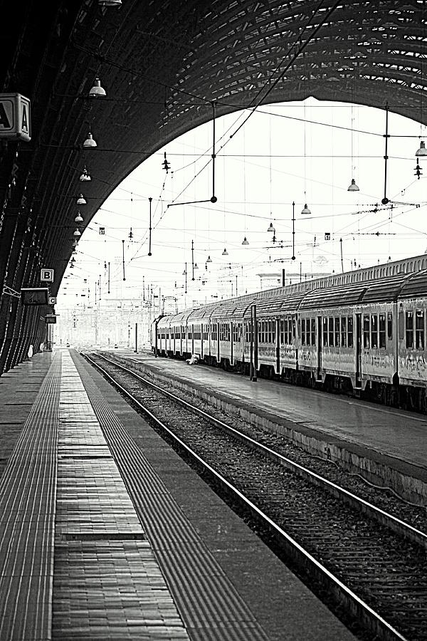 Train Photograph - Milan Central Station by Valentino Visentini