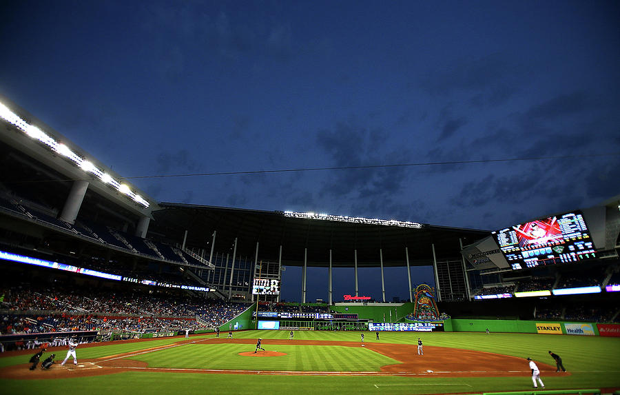 Milwaukee Brewers V Miami Marlins Photograph by Mike Ehrmann