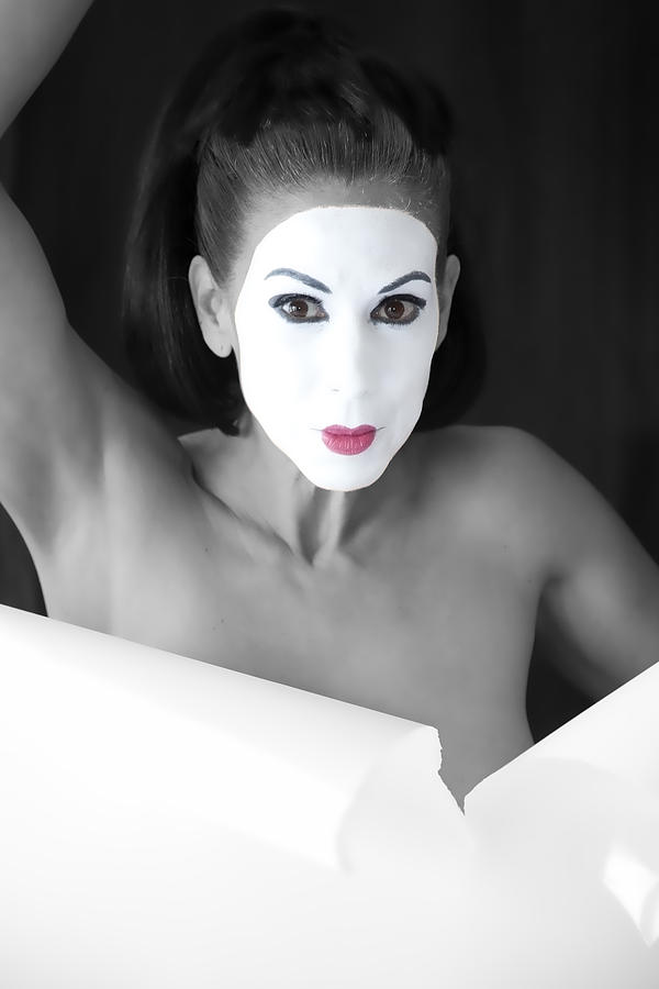 Mime Photograph - Mime by Hugh Smith