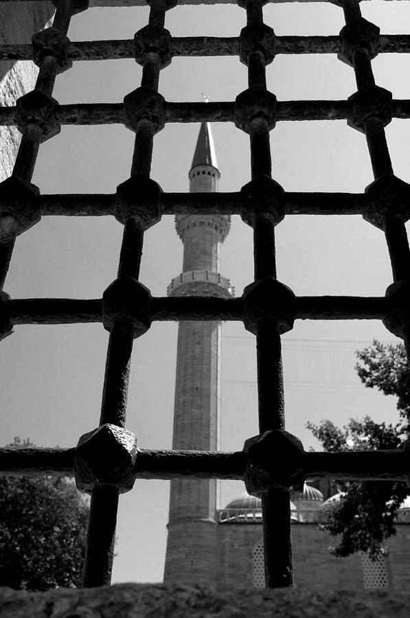 Istanbul Pyrography - Minaret by Ernesto Cinquepalmi