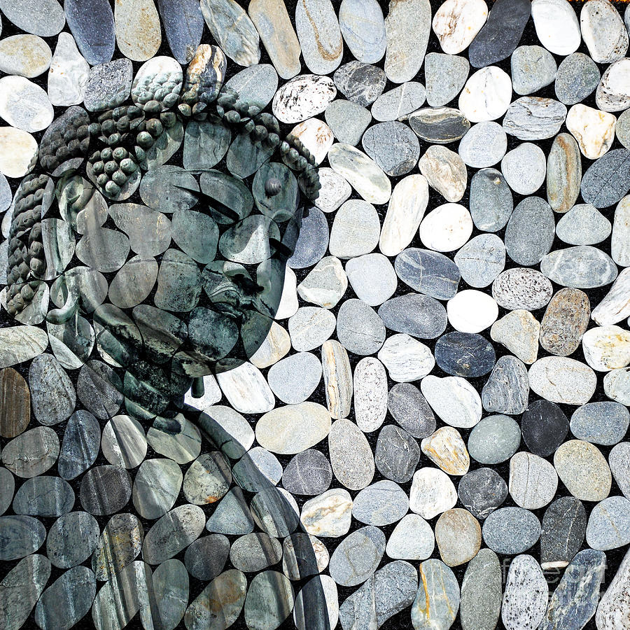 Buddha Digital Art - Mineral Daibutsu by Delphimages Photo Creations