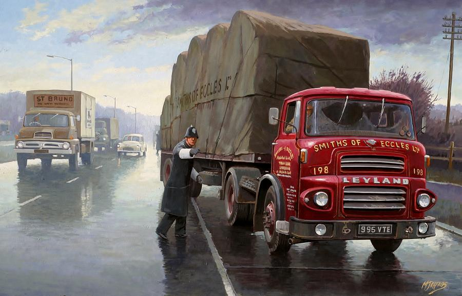 Lorry Painting - Ministry Check. by Mike  Jeffries