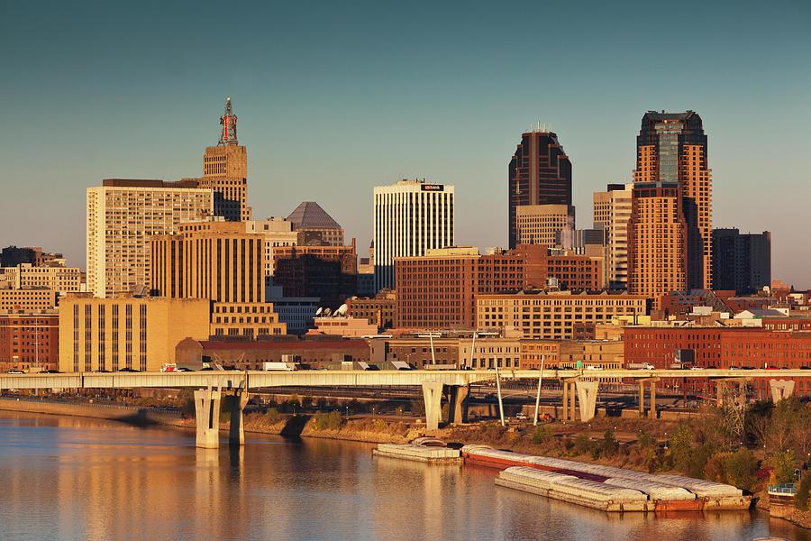 Minneapolis, St. Paul, Minnesota, City Photograph by Walter Bibikow