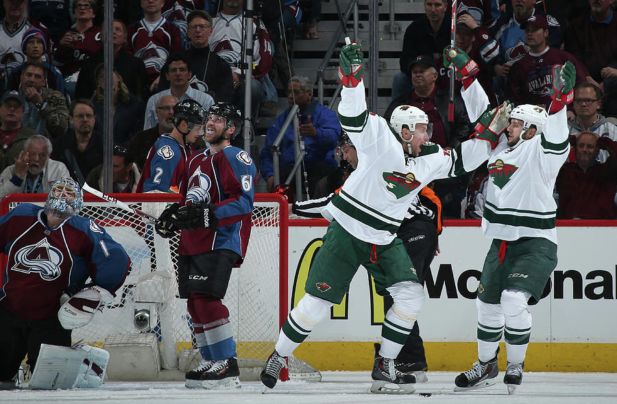 Minnesota Wild V Colorado Avalanche - Photograph by Doug Pensinger
