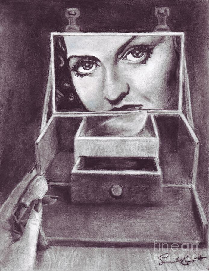 Bette Drawing - 1 Minute Miss Davis by Samantha Geernaert