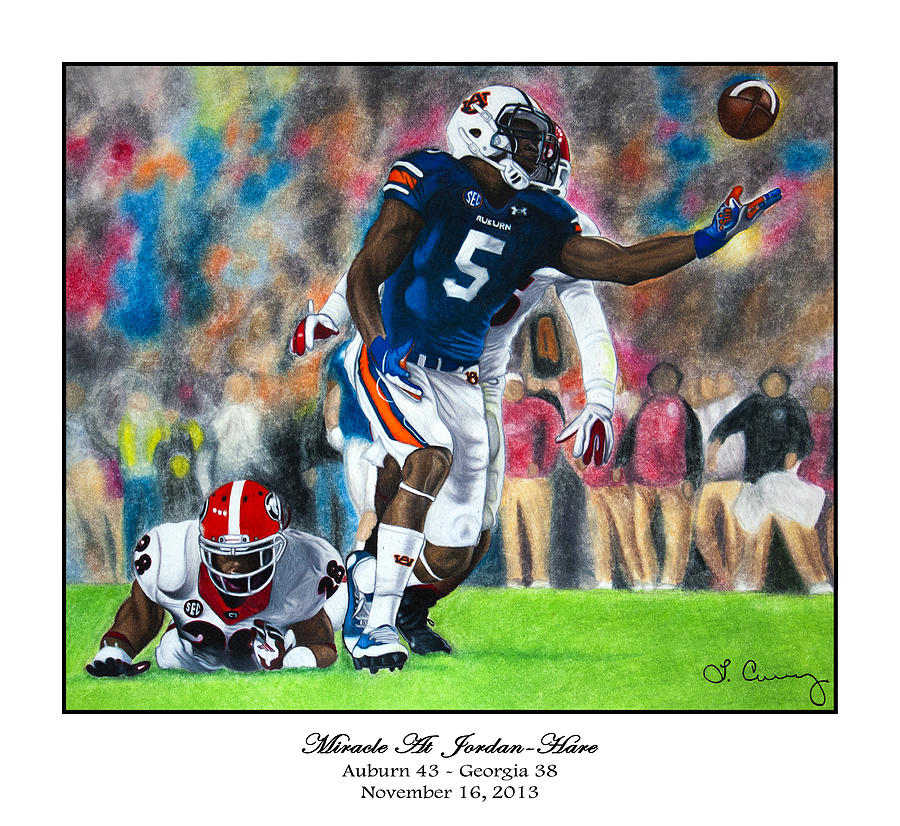 Auburn Painting - Miracle At Jordan-hare by Lance Curry