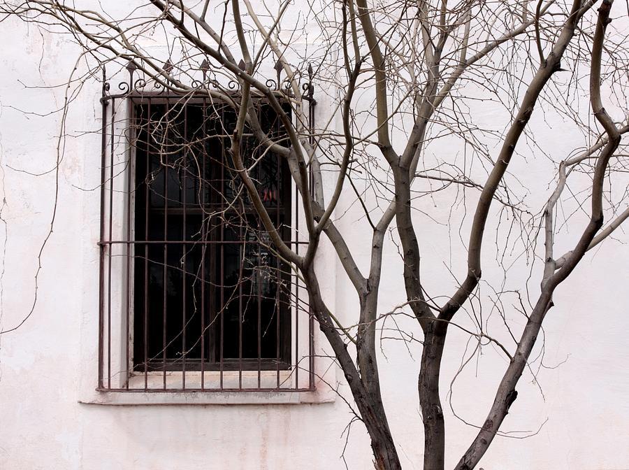 Window Photograph - Mission Church Window by Joe Kozlowski
