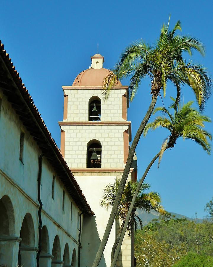 Mission santa barbara bell tower photograph by david lobos for Case in stile missione santa barbara