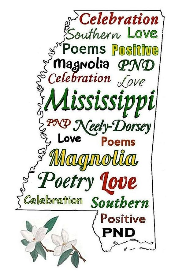 Southern Poetry Digital Art - Mississippi Magnolia Love by Patricia Neely-Dorsey