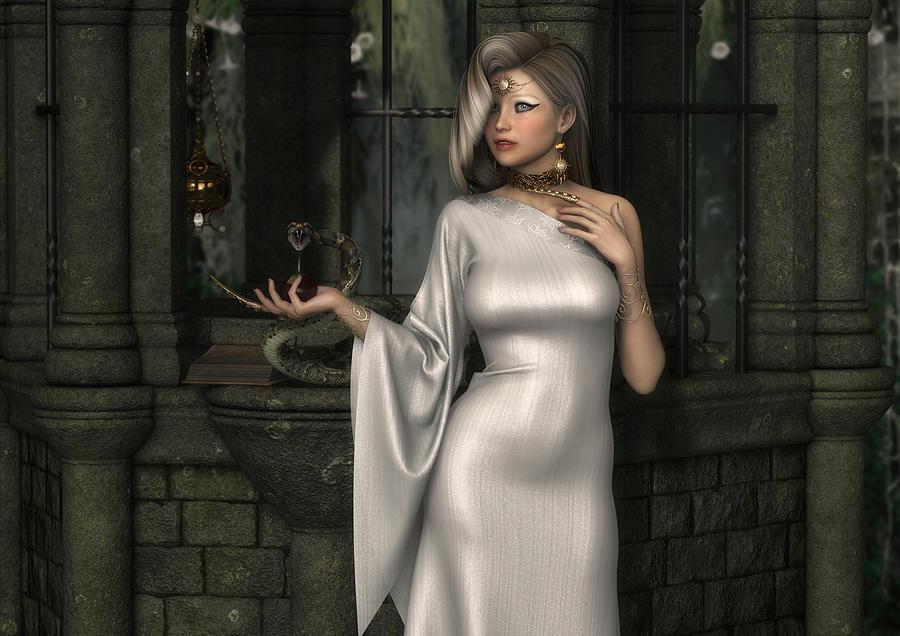 Alchemist Digital Art - Mistress Of Poisons by Rachel Dudley