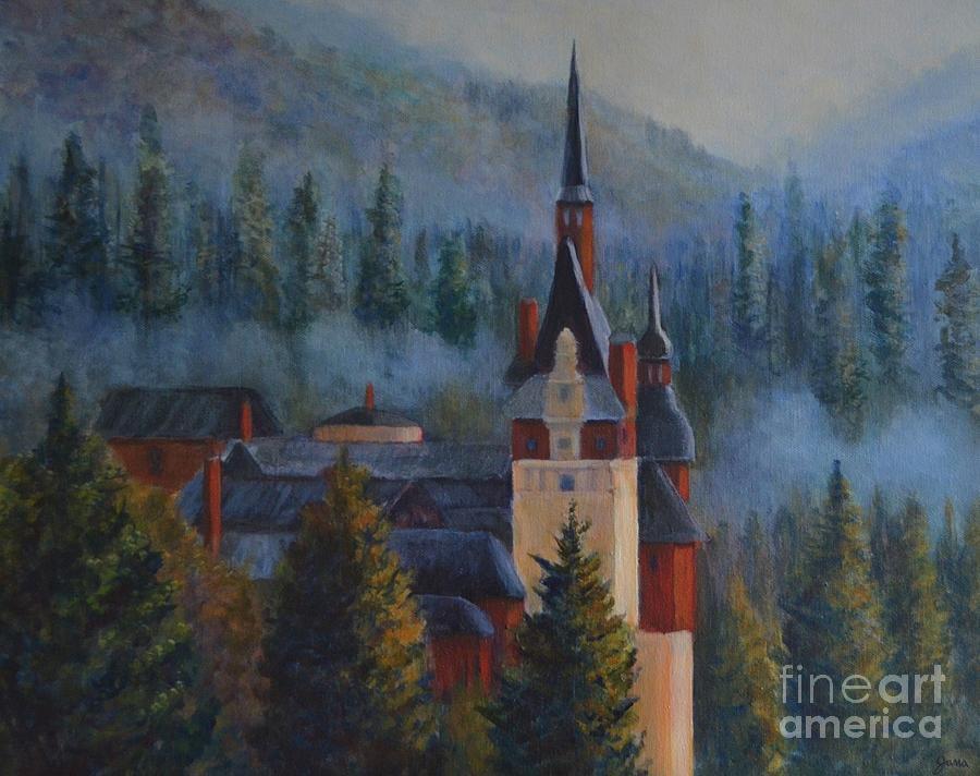 Castle Painting - Misty Morning by Jana Baker