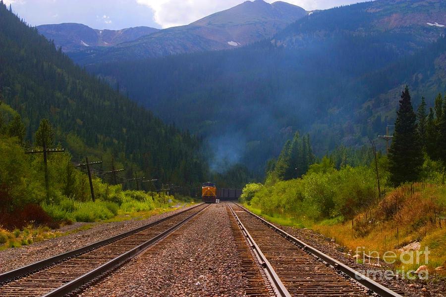 Misty Mountain Train Photograph