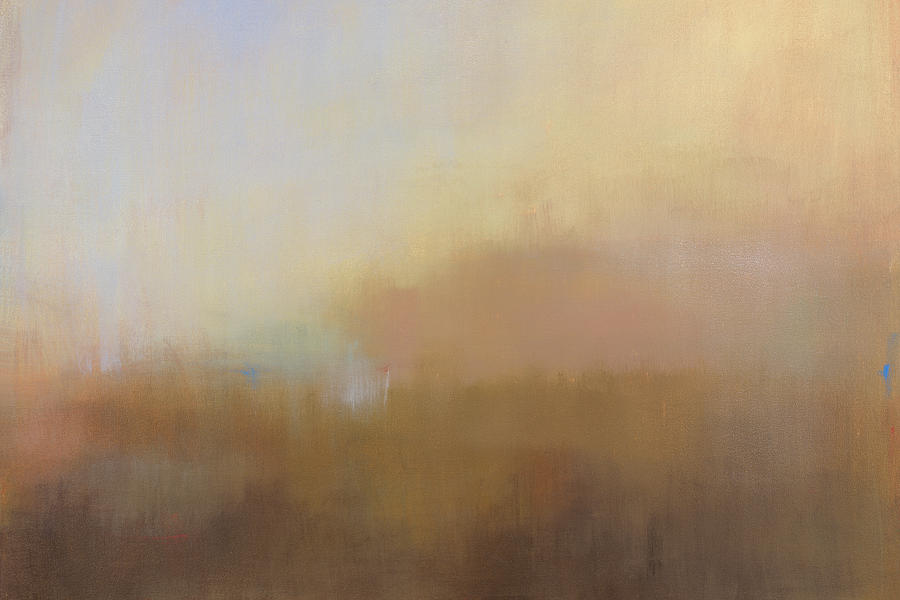 Landscape Painting - Misty View from Above by Jacquie Gouveia
