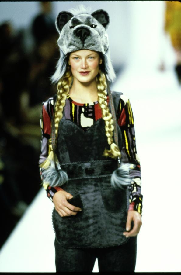 Model On A Runway For Anna Sui Photograph by Guy Marineau