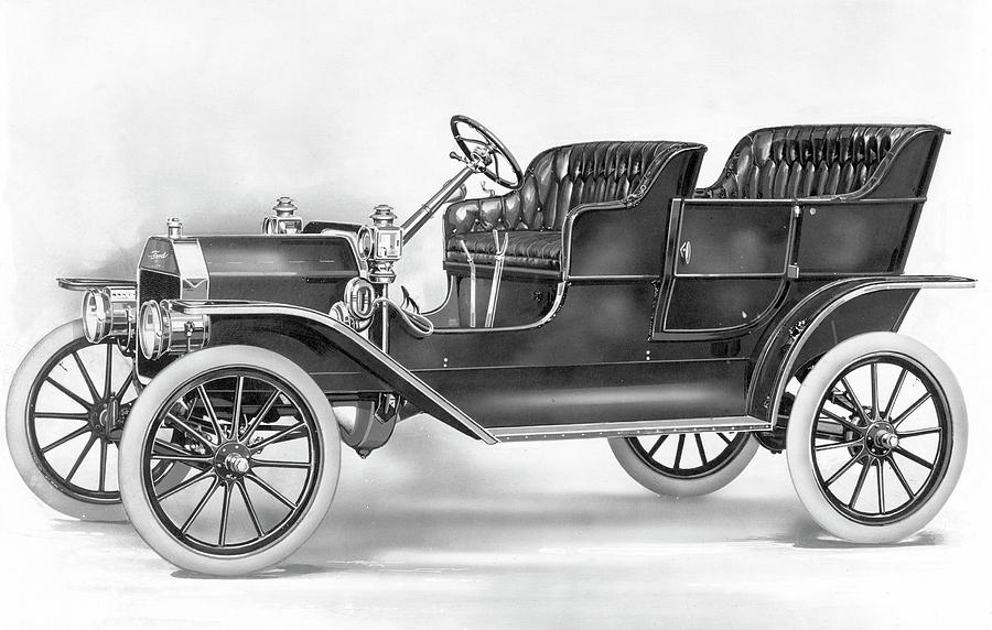 1908 Photograph - Model T Ford, 1908 by Granger