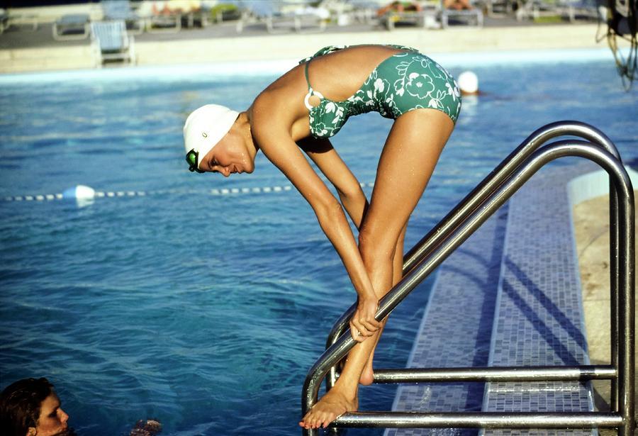 Model Wearing A Mirella Swimsuit Photograph by Arthur Elgort