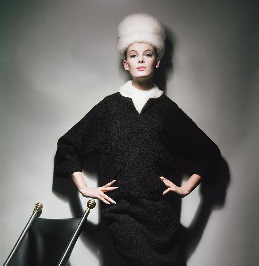 Model Wearing Mink Hat Photograph by Horst P. Horst