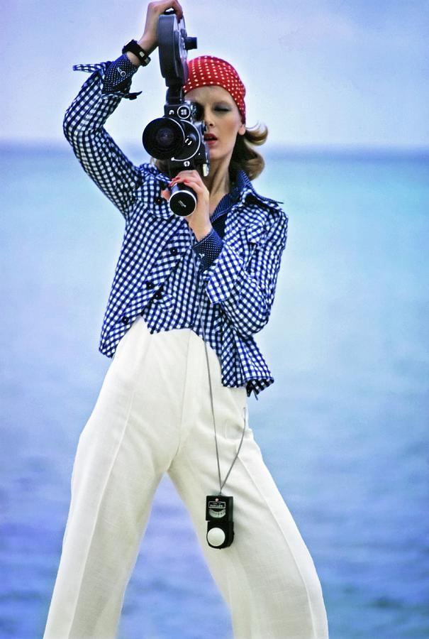 Model Wearing Pat Sandler Photograph by Gianni Penati