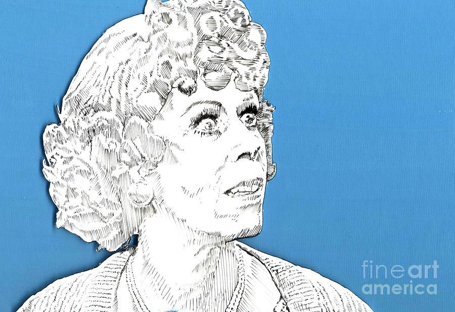 Carol Mixed Media - Momma On Blue by Jason Tricktop Matthews