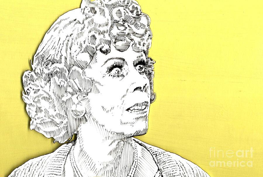 Carol Mixed Media - Momma On Yellow by Jason Tricktop Matthews