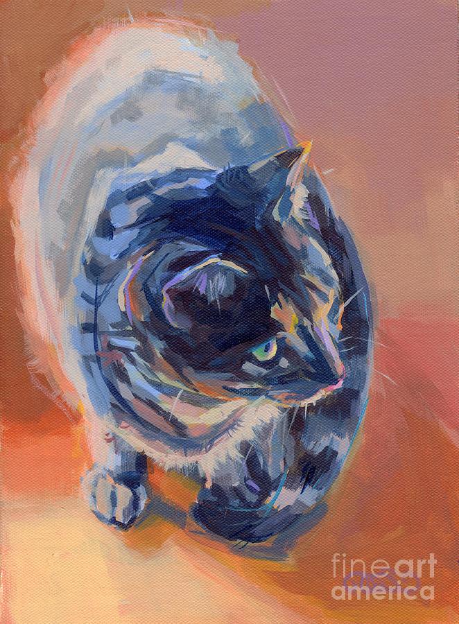 Tabby Cat Painting - Mona Lisa by Kimberly Santini