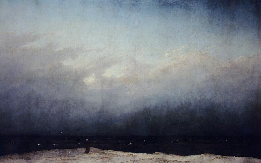 Painting Painting - Monk By Sea by  Caspar David Friedrich