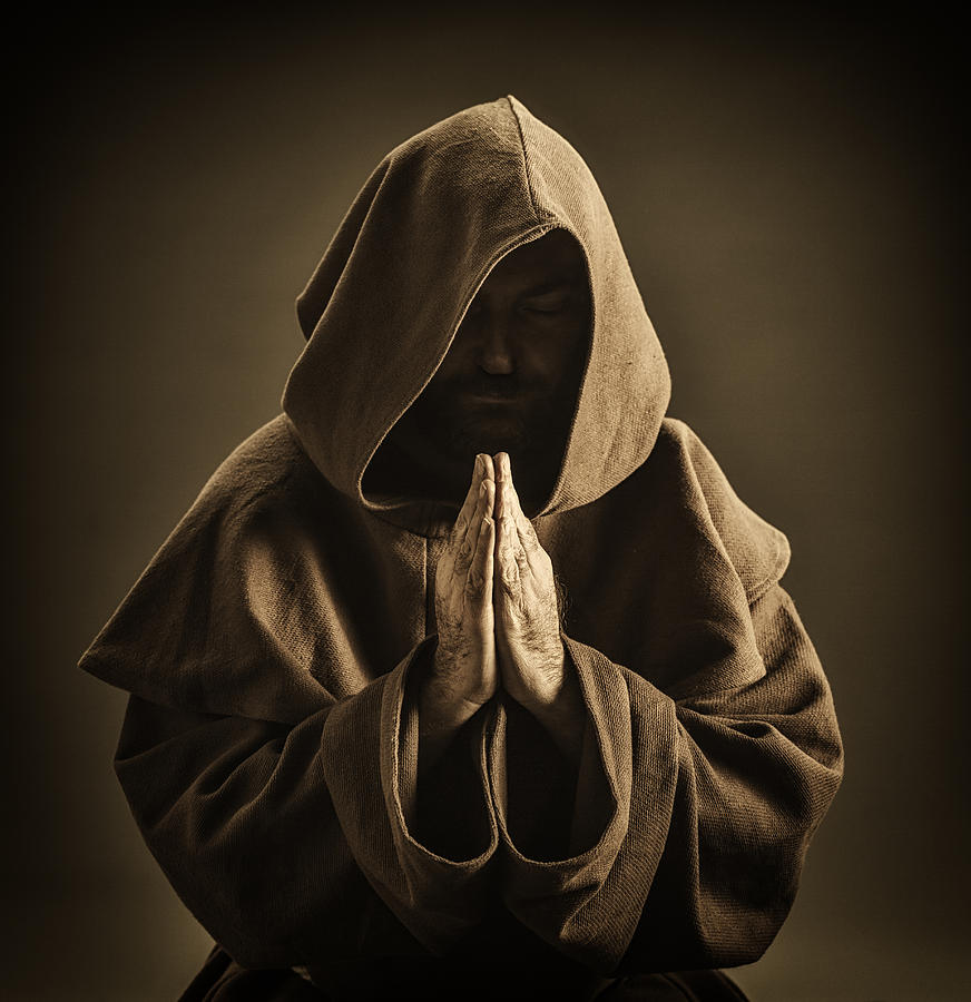Monk Praying Photograph by Aluxum