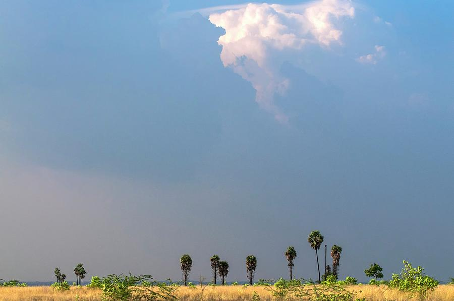 Climate Photograph - Monsoon Clouds Over Landscape by K Jayaram