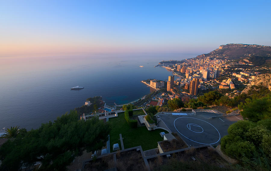 Aerial Photograph - Monte Carlo by Ioan Panaite
