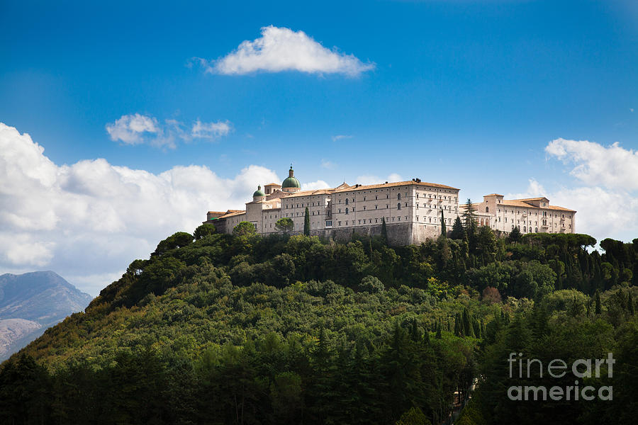 Cassino Photograph - Monte Cassino  Abbey On Top Of The Mountain by Peter Noyce