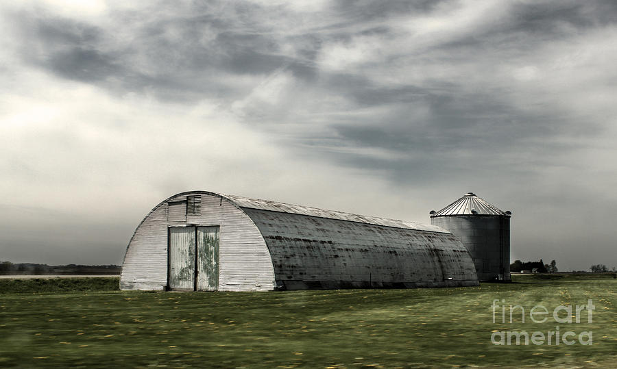 Downtown Photograph - Montezuma Iowa - Farm  by Gregory Dyer