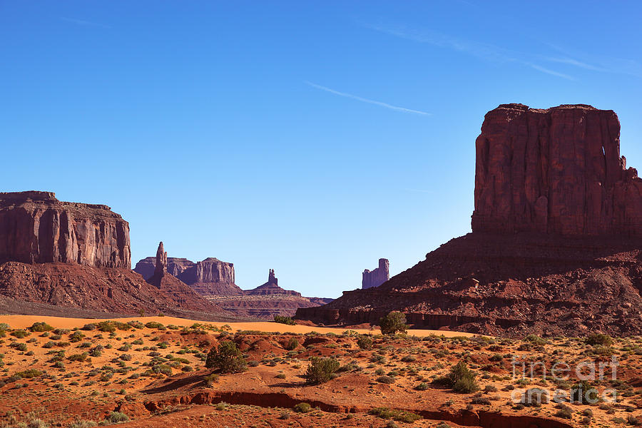 Outdoor Photograph - Monument Valley Landscape by Jane Rix