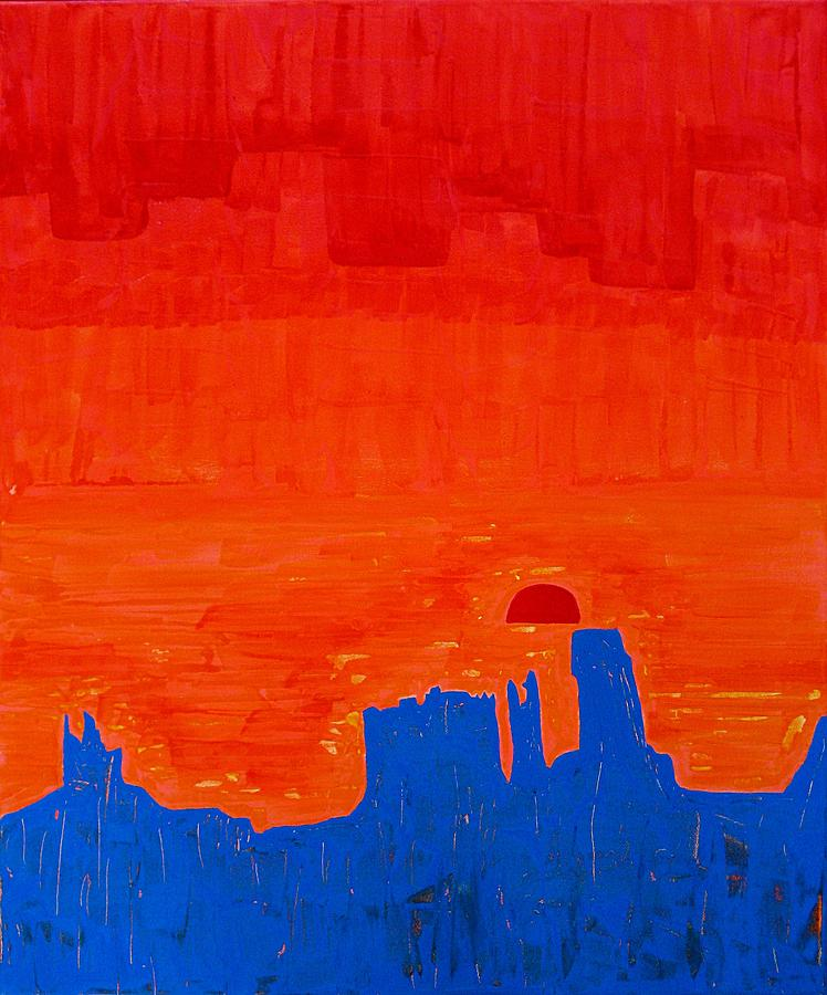 Painting Painting - Monument Valley Original Painting by Sol Luckman