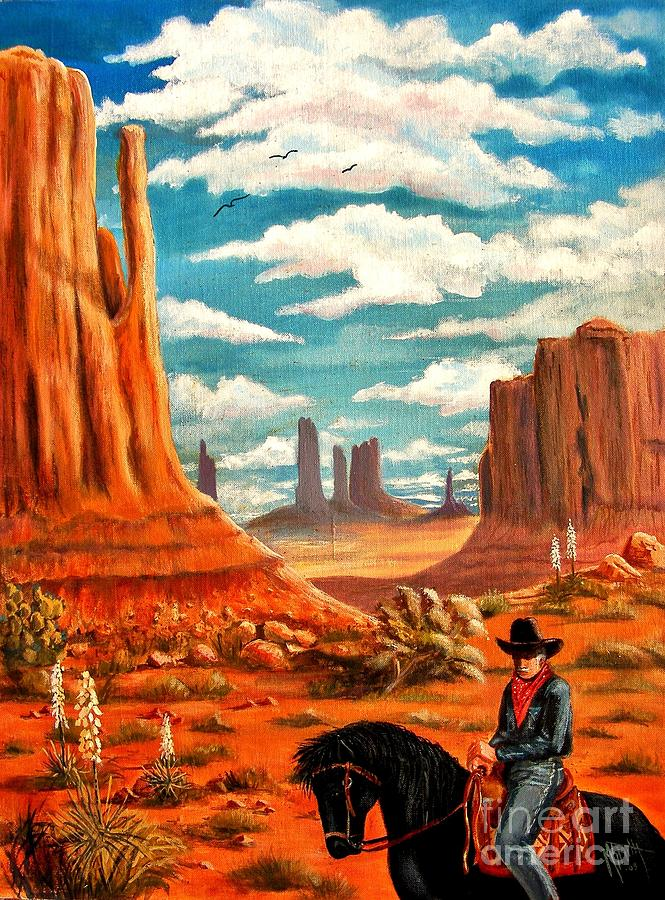 Monument Valley View Painting By Marilyn Smith