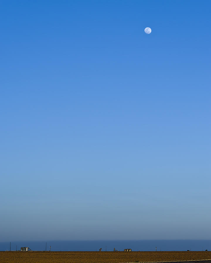 Us 87 Photograph - Moon Over Red Fields by Alan Tonnesen
