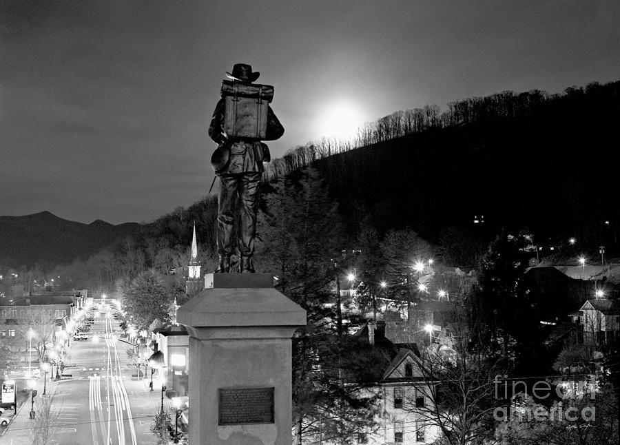 Sylva Photograph - Moon Over Sylva 2004 by Matthew Turlington