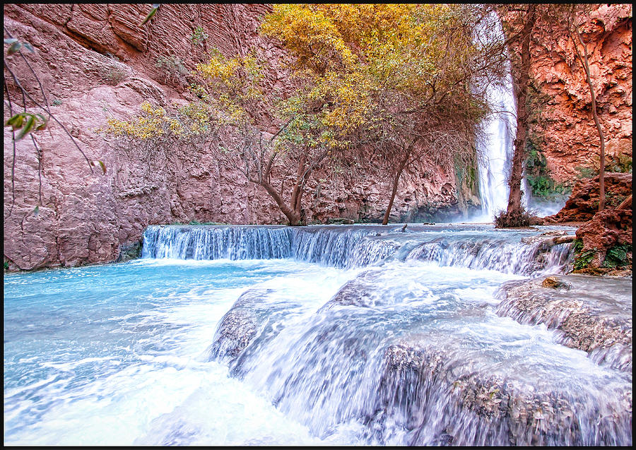 Waterfall Photograph - Mooney Falls by Stellina Giannitsi