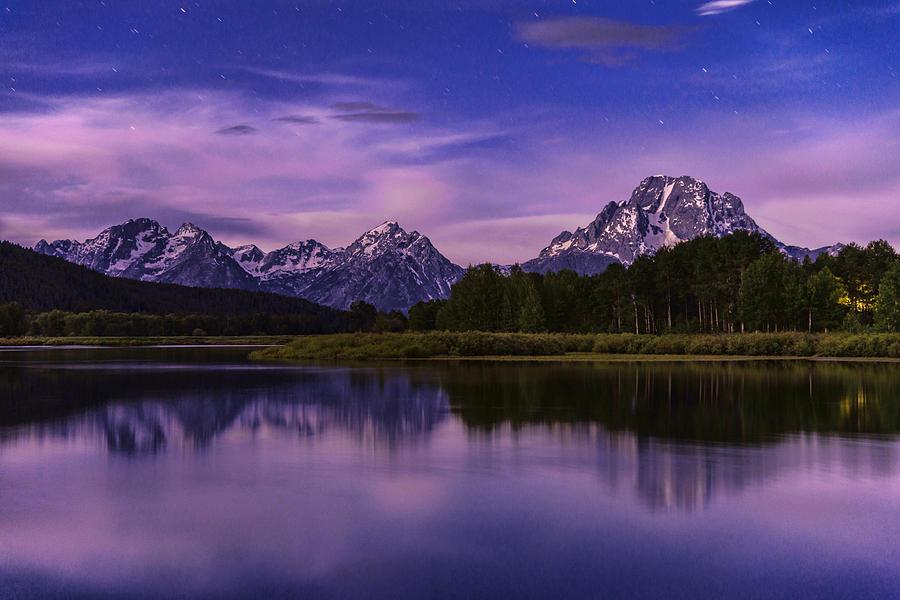 Night Photograph - Moonlight Bend by Chad Dutson