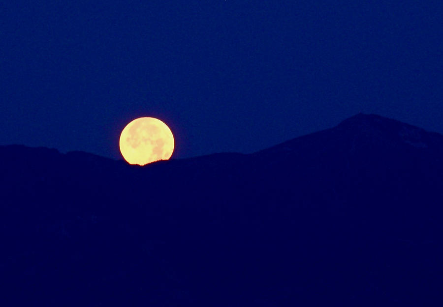Full Moon Photograph - Moonset by Rona Black